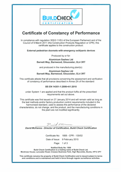 Buildcheck Certificate 201